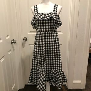 J. Crew checkered dress cotton